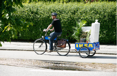 ikea tests bike share in denmark why not nyc. Black Bedroom Furniture Sets. Home Design Ideas