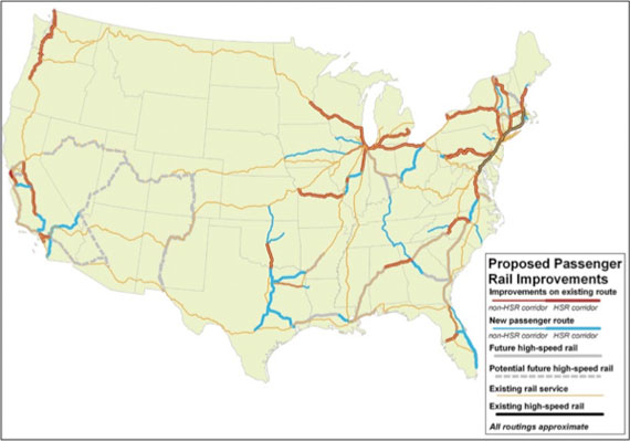 New Report Maps a HighSpeed Rail Link For Every Major US City – Map of Major Cities in New York