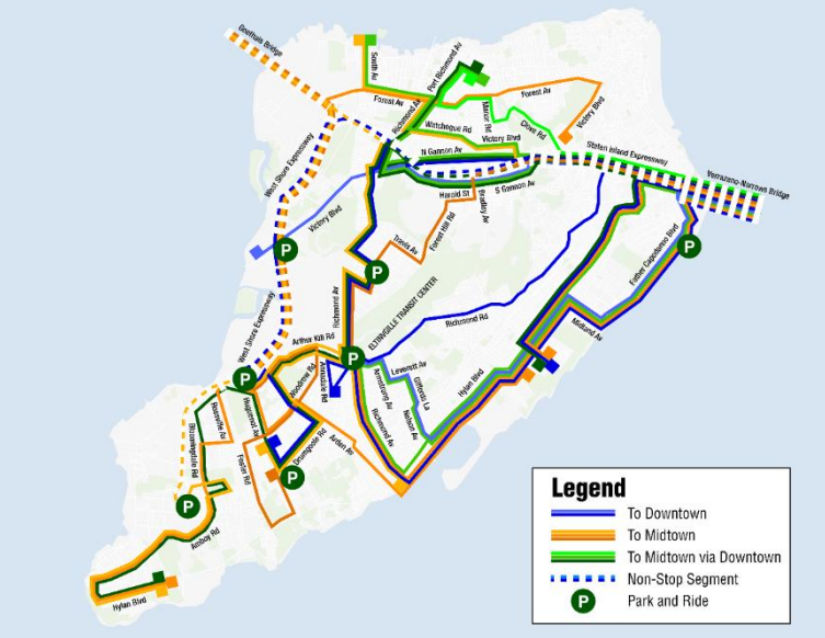 Express Bus Nyc Map.Mta S Staten Island Bus Overhaul Points The Way Forward For The Rest