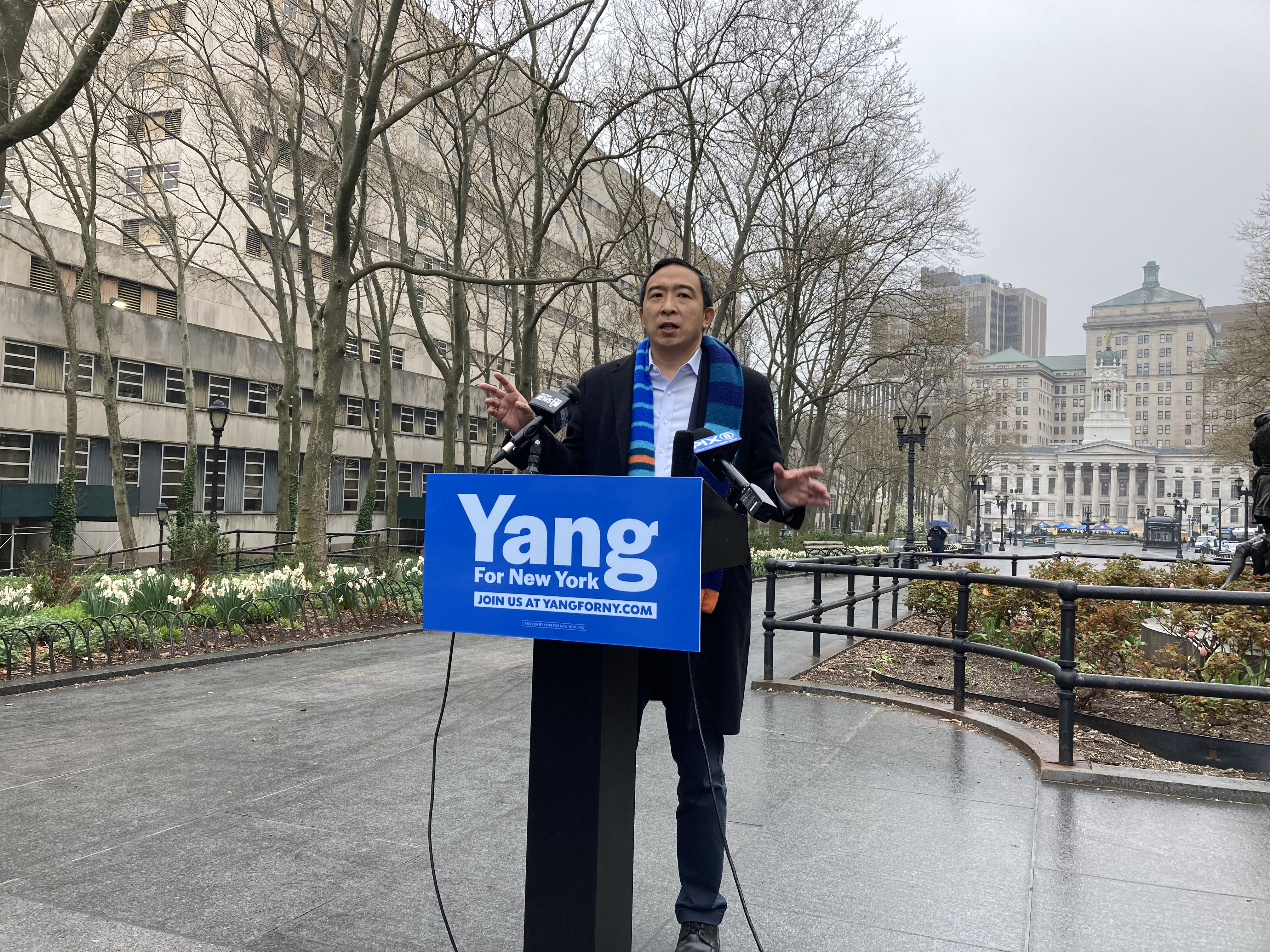 Yang Unveils Placard Abuse Crackdown Plan as Adams Calls the Corruption a 'New Paltz' Issue